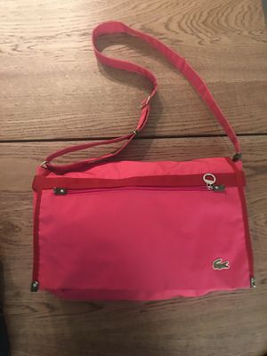 Lacoste pink messenger bag for Sale in Everett, MA