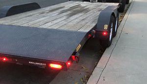 """Belmont 82""""X18' Deck over 7K car hauler,slide out ramps, 5k drop leg jack LED lights for Sale in La Puente, CA"""