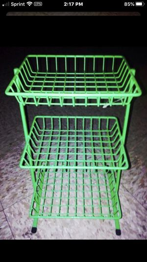 "2 SMALL green metal shelfs Measures 13"" hight and 7 1/2 "" wide for Sale in Chicago, IL"