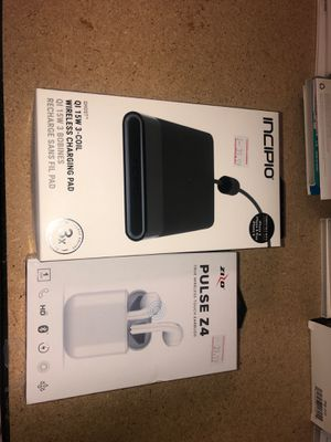 INCIPIO wireless charging pad and a Zizo Z4 pulse wireless earbuds for Sale in Quincy, IL