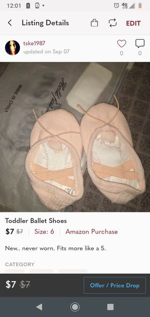 Amazon purchase/Toddler Ballet Shoes for Sale in St. Petersburg, FL