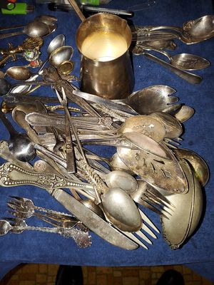 Vintage silverware. Some silverplated. for Sale in Chicago, IL