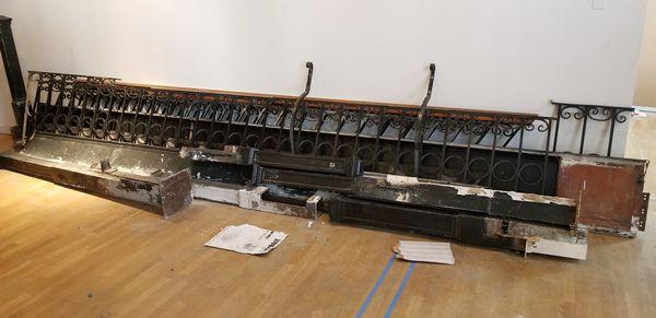 Railing and scrap metal