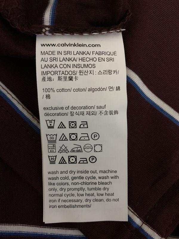 NWT Calvin Klein Liquid Touch Mens Polo Shirt Size-XL Colors-RASPBERRY CHOCOLATE