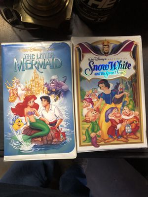 Disney classic VHS movies OG Little Mermaid for Sale in Glendale, CA