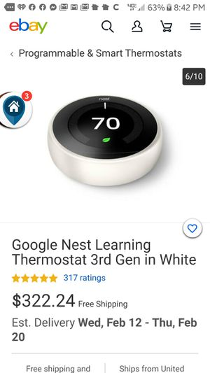 Nest learning Thermostat for Sale in Salem, OR