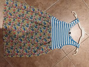 New girls kids flower striped floral tank top dress medium 9 10 for Sale in Rancho Cucamonga, CA
