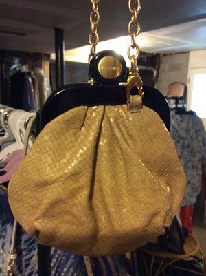 Gently Used Brahmin Real Snake Skin Gold Chain Evening Clutch or Shoulder Bag. Unique 😉 for Sale in Nashville, TN