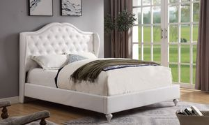 *SEASONAL SPECIAL* BRAND NEW White Leather Tufted Bed! DELIVERY INCLUDED!!! for Sale in Decatur, GA