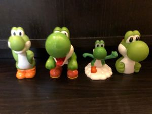 4 Collectible Yoshi Figures! HTF Applause 97',2007/2008 McDonald's & a bottle proper. Toys/Nintendo/Games for Sale in Tinley Park, IL