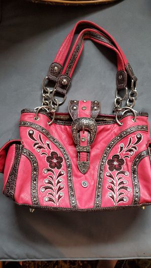 Salmon coloured embroidered purse. for Sale in East Gull Lake, MN