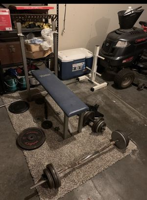 Weight bench Bar press for Sale in Belleville, IL