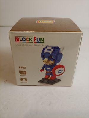IBlock Fun: LOZ Diamond Block: 310 Pieces (New) Captain America for Sale in Santa Ana, CA