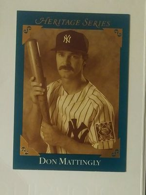Leaf 1992 Heritage Series Don Mattingly New York Yankees N.Y. #BC-5 Lou Gehrig 100th Anniversary Baseball Card Vintage Collectible Sports MLB Special for Sale in Salem, OH