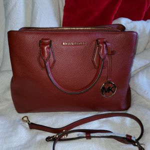 Burnt Red Michael Kors Leather Bag for Sale in Dallas, GA