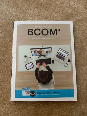 BCOM (with BCOM Online, 1 term (6 months) Printed Access Card) (New, Engaging Titles from 4LTR Press) Student Edition 9th Edition ISBN-13: 978-13371 for Sale in Alexandria, VA
