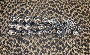 Assorted 39 Piece Socket Lot Metric and SAE for Sale in Davenport, FL