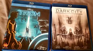 2 bluray tron legacy and dark city for Sale in Weston, MA