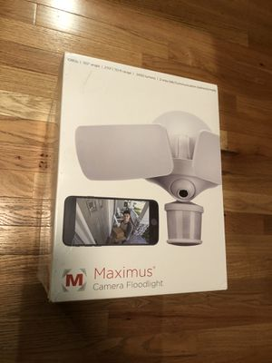 Brand New Maximus Floodlight Camera Motion-Activated HD Security Camera Two-Way Talk and Siren Alarm for Sale in Indian Trail, NC