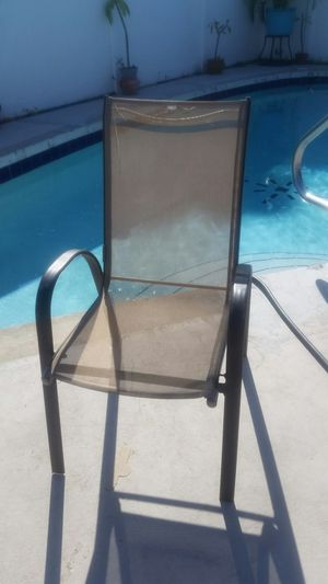 Tan and Dark Brown Sling Chair for Sale in Port Charlotte, FL