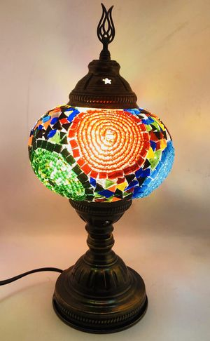 Handcrafted Turkish Mosaic Glass Table Lamp|Great Home Decor for Living Room, Bed Room, Game Room, Media Room| Also Great for Dorm Room, Bar & Nigh for Sale in Hialeah, FL