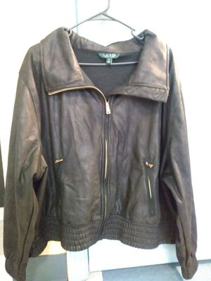 Ralph Lauren women's leather jacket 3X for Sale in Bethesda, MD