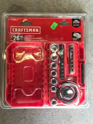 Craftsman 26 pc. Standard/metric palm ratchet set for Sale in Chocowinity, NC