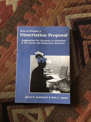 How to Prepare a Dissertation Propsal for Sale in Lexington, KY