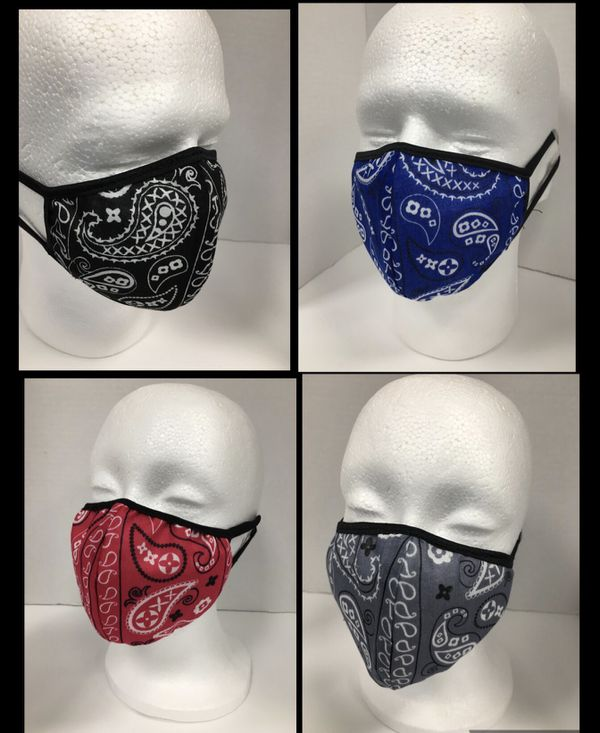Adult unisex face masks set of (4) four
