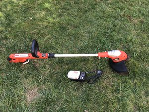 "Black and Decker 20V Lithium Ion Cordless Trimmer/Edger, 12"" Charger and 2 Batteries for Sale in Plymouth Meeting, PA"