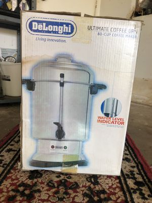 DeLonghi ultimate coffee maker URN 60 cup capacity great condition for Sale in Pompano Beach, FL