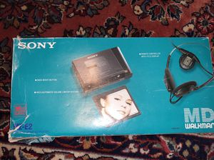 Sony MD Walkmans (Qty. 2) MZ-E2 brand new never used minidisc players with original remote headphones charger battery for Sale in Escondido, CA