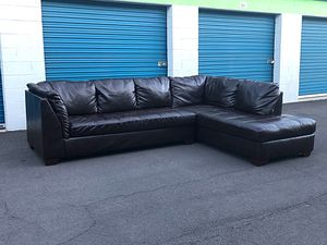 Beautiful Brown Leather Sectional Sofa Couch from Arizona Leather Interiors ~ Delivery Available for Sale in Phoenix, AZ