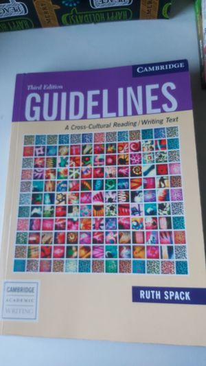 Book: guidelines A cross -culture reading/writing text for Sale in Lawrence, MA