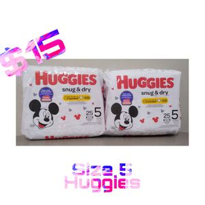 Huggies Snug & Dry Diapers Size 5 for Sale in Brooklyn, NY