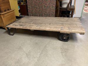 Restored Oak Factory Cart/Coffee Table for Sale in Wheeling, WV