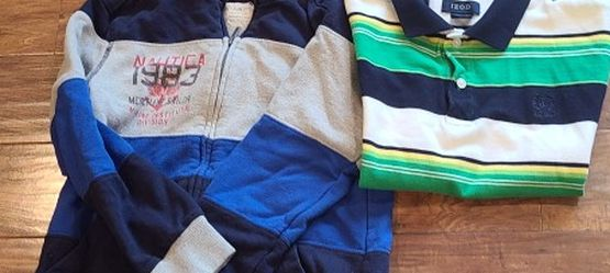 Boys Nautica Hoodie And Izod Polo Sz 10 for Sale in Madison Heights,  VA