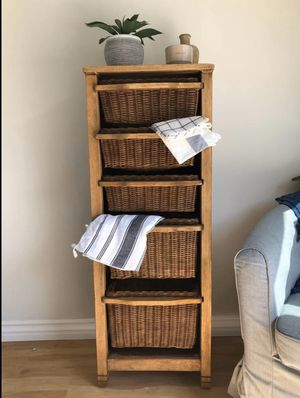 Dresser , farmhouse basket for Sale in La Mirada, CA