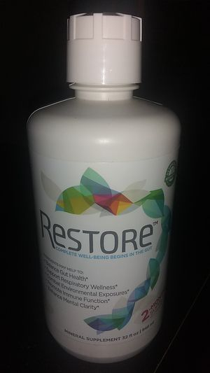 Restore complete well being begins in the guts mineral supplement 32 fl oz 2 month supply bottle! $25 firm for Sale in Tucson, AZ