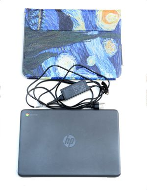 "2018 HP Chromebook 14"" with charger & laptop case. for Sale in San Marcos, CA"