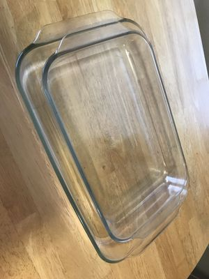 TWO PYREX GLASS BAKING DISHES for Sale in Fresno, CA