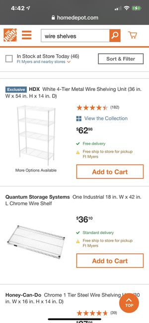 Wire shelves for Sale in Fort Myers, FL