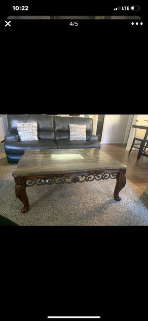 L@@K! Marble coffee table Plus 2 Free end tables Purchase Today!! for Sale in Mesa, AZ