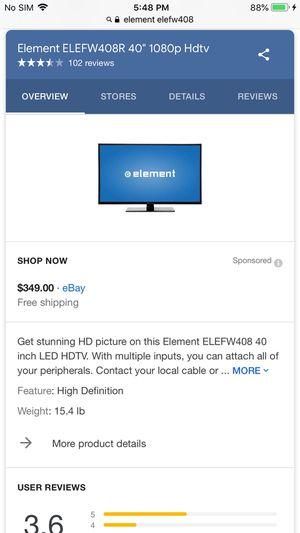 Element HD Led flatscreen tv for Sale in Union City, GA