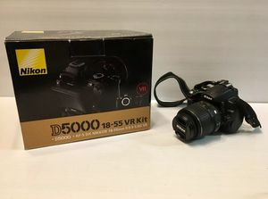 Nikon D5000 VR Digital DX SLR Camera W/ 18-55mm Lens W/ Original Box Accessories AF-S Nikkor Lens 18-55mm 1:3.5-5.6G DX SWM VR ASPHERICAL Infinity- for Sale in Mountain View, CA