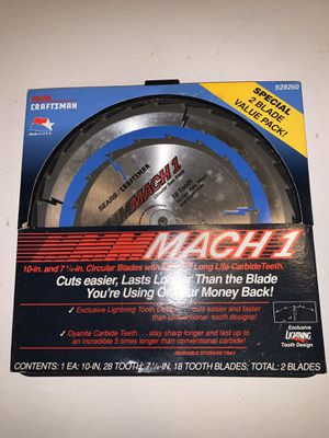 Craftsman Mach 1 Saw Blade Set for Sale in Freehold, NJ