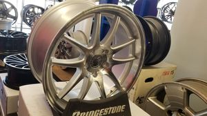 """18"""" new silver machined rims tires set Infiniti g35 coupe Lexus Nissan z for Sale in Hayward, CA"""
