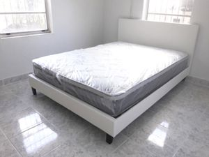 New queen bed frame and mattress included for Sale in Pompano Beach, FL