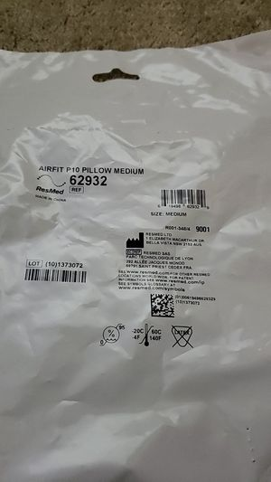 ResMed AirFit P10 nasal pillow for CPAP Medium size (set of 10) for Sale in Santa Rosa, CA