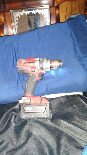 Milwaukee hammer drill/driver 1/2 inch m18 18 volt red lithium battery,NO CHARGER for Sale in Stone Mountain, GA